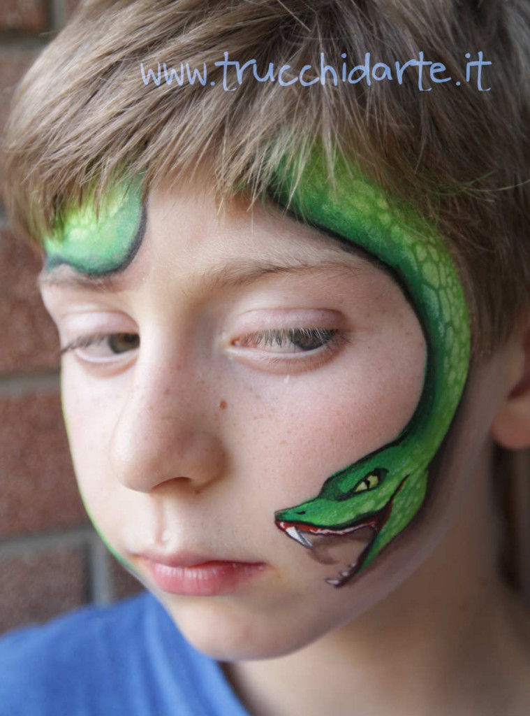 Snake Face Painting 3d Trucchi DArte