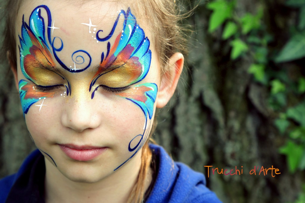 Amato Solea - Fantasy butterfly facepainting - Trucchi d'Arte BX74